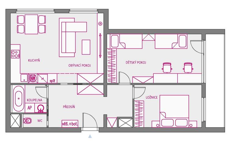 navrh-dispozice-panelovy-byt-3plus1